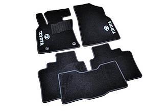 Ворсовые коврики для Toyota Auris (2013-)  Текстильные в салон авто (чёрный) (StingrayUA.)