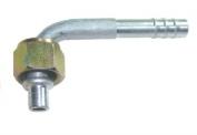 Фитинг шланга №6 (8мм) угловой 90° с накидной гайкой. O‐ring (кольцо)