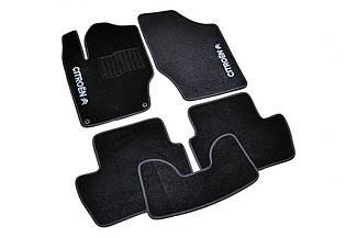 Ворсовые коврики для Citroen C4 (2004-2010) Текстильные в салон авто (чёрный) (StingrayUA.)