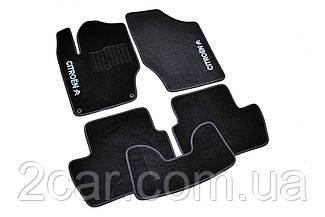 Ворсовые коврики для Citroen C4 (2010-) Текстильные в салон авто (чёрный) (StingrayUA.)