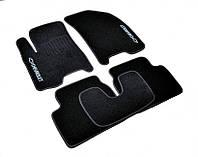 Ворсовые коврики для Chevrolet Lacetti Текстильные в салон авто (чёрный) (StingrayUA.)