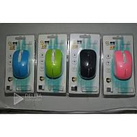 Мышка компьютерная беспроводная Ruff S2, оптическая, 2.4 Ггц, радио интерфейс, AA, разные цвета, мышь для компьютера беспроводная S2
