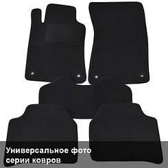 Ворсовые коврики для Seat Ibiza (2002-2008) Текстильные в салон авто (чёрный) (StingrayUA.)