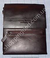 dc9296f24669 Мужская сумка Bradford 889-5 коричневая A4 на три отдела искусственная кожа  размер 25см х