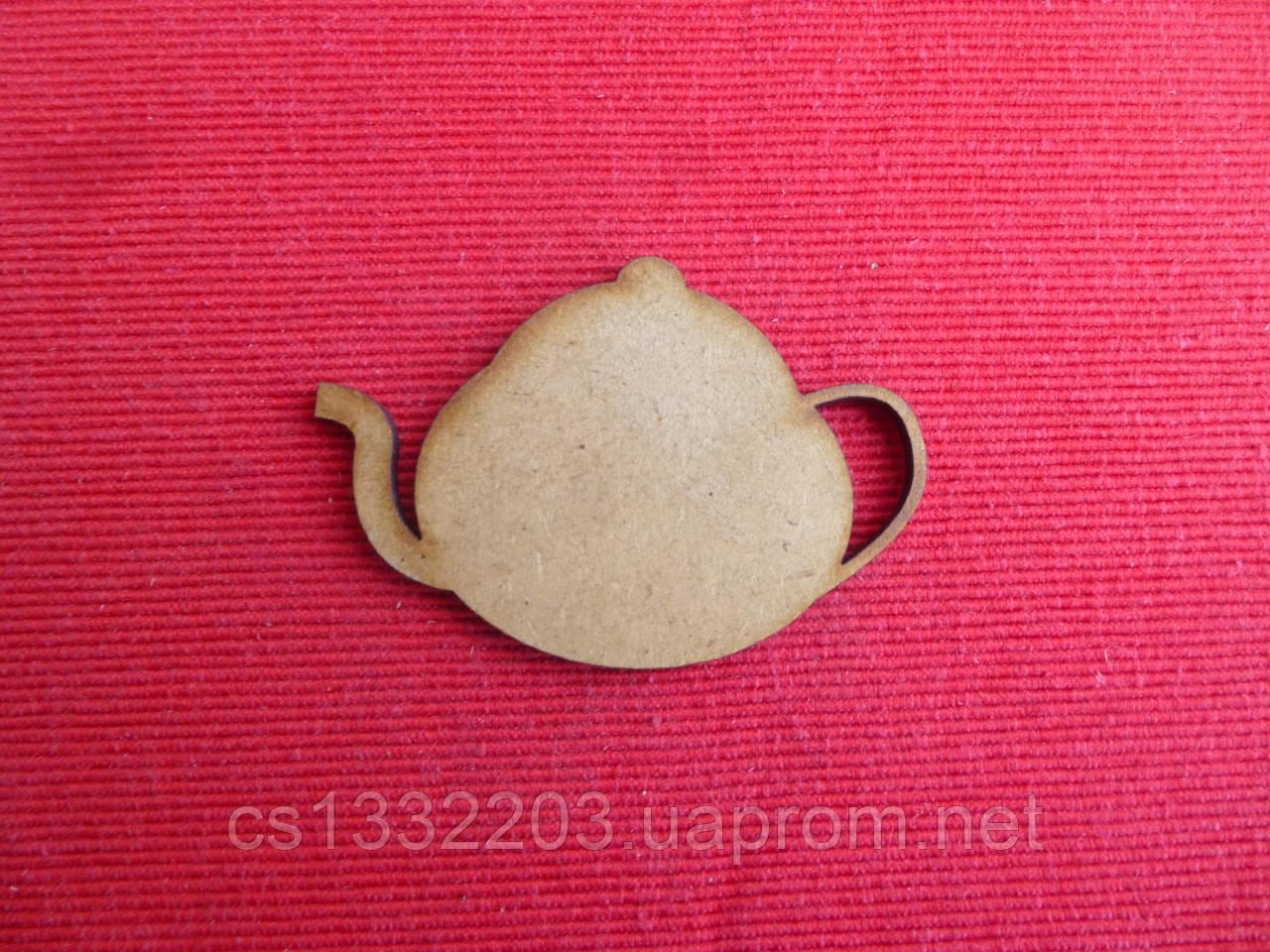 """Шильда """"чайник"""" 7*4.5см (мдф)"""