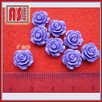 Кабошон розочка 10 мм сиреневая (пурпурная)