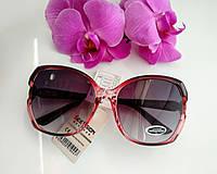 Солнцезащитные женские очки Бабочки, черные с прозрачным розовым (063), фото 1