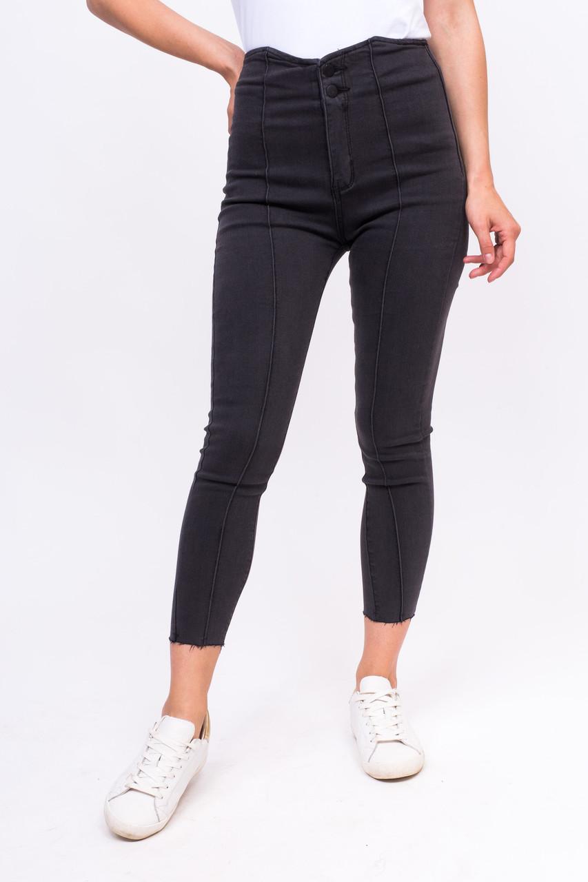 Стильные стрейчевые джинсы LUREX - серый цвет, L (есть размеры)