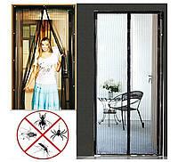 Москитная сетка на двери на магнитах от насекомых Magic Mesh 210*100