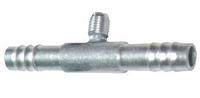 Фитинг шланга №6 (8мм) с клапаном шредера прямой 0°