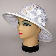Шляпа  летняя белая 56-57 размер