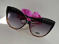 """Солнцезащитные большые очки """"Бабочки""""  с градиентными линзами и оправой (062), фото 1"""