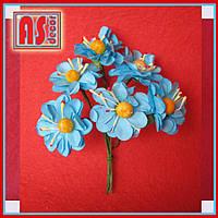 Яблоневый цвет букетик из 6 шт - голубой