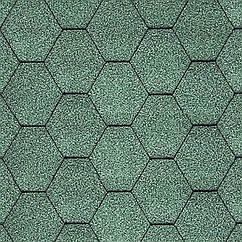 Гибкая черепица Katepal Classic KL (Катепал Классик КЛ) Зеленый
