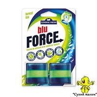 Кубик дезінфікуючий в бачок Blu Force Сосоновий Ліс 2x50g  - CM02075, фото 1