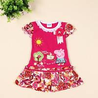 Платье для девочки Свинка Пеппа /Рерра pig/ цвет фуксия/ 1.5-2 года (92 см)/ 2-3 года (98 см)