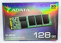 SSD M2 накопитель ADATA SU800 128GB SATA III 3D V-NAND TLC (ASU800NS38-128GT-C)