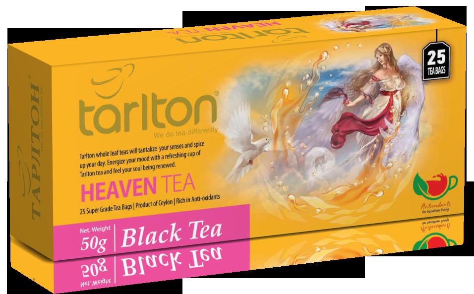 Чай черный пакетированный Тарлтон Heaven Tea со вкусом ягод асаи 25 пак х 2 г