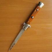 Нож выкидной  9049. Рукоять - дерево., качественные ножи, подарки для мужчин, карманный нож, оригинальный това