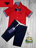 Темно-синие коттоновые шорты для мальчика, фото 7