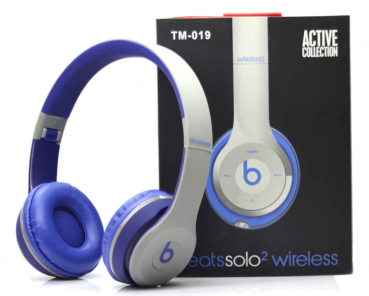 Беспроводные наушники Monster Beats Solo 2 by Dr.Dre Grey Blue STN-19