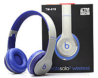 Беспроводные наушники Monster Beats Solo 2 by Dr.Dre Grey Blue STN-19, фото 1