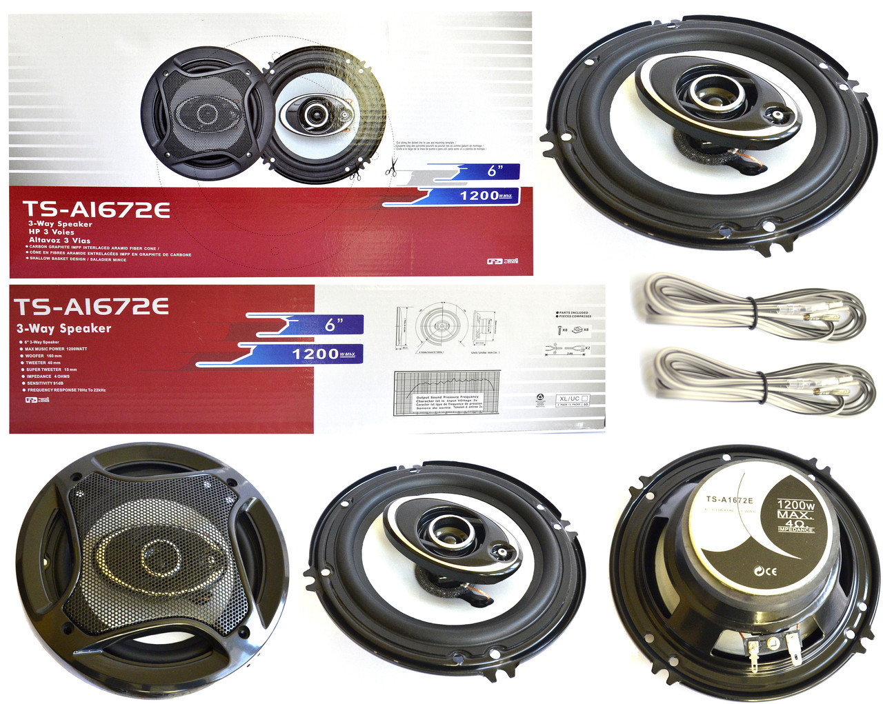"Динамики для авто акустика Pioneer TS-A1672S 6"" 16см колонки"