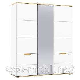 Шафа розпашна H 3Д у вітальню Valles Дуб Камяний / Білий Blonski