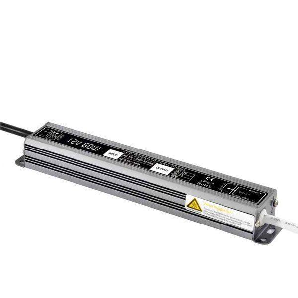 Блок питания импульсный PROLUM Slim 60W 12V (IP67, 5А) PRO