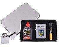Зажигалка бензиновая в подарочной упаковке Герб Украины XT-4927-1