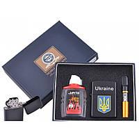 Зажигалка бензиновая в подарочной упаковке Герб Украины XT-4928