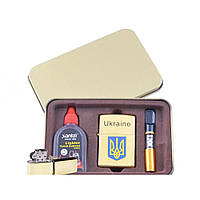 Зажигалка бензиновая в подарочной упаковке Герб Украины XT-4929-2
