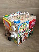 """Развивающий куб  """"Бизикуб"""" бизи куб для детей 35*35*35 см"""