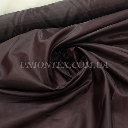 Подкладочная ткань нейлон 170Т темно-бордовый, фото 2