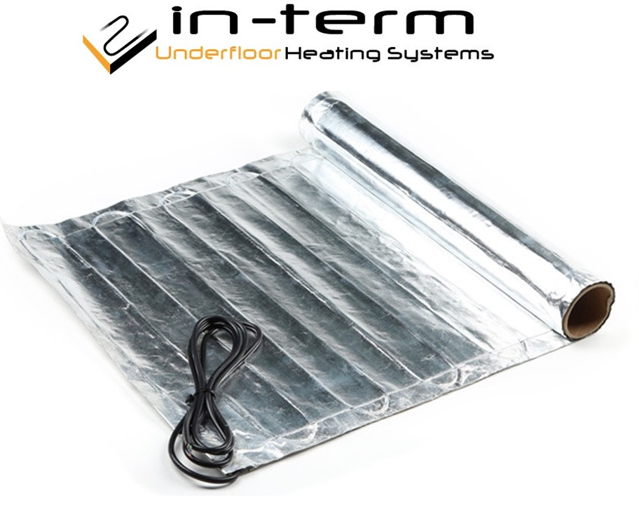 Алюминиевый нагревательный мат под ламинат IN-THERM AFMAT 1,0 м2 / 150 Вт (Корея)