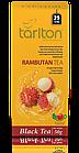 Чай черный пакетированный Тарлтон Rambutan Black Tea со вкусом фрукта рамбутан 25 пак х 2 г, фото 2