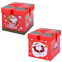 """Коробка подарочная картонная """"Santa"""" R87113, размер 29*29см, разные цвета, коробка для подарков, подарочная коробка, коробочки"""