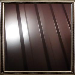 Профнастил фасадный, стеновой С-18 (цвет 8017 - коричневый, глянец) металл Китай