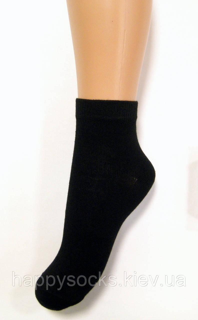 Дитячі шкарпетки середньої довжини бавовняні чорного кольору