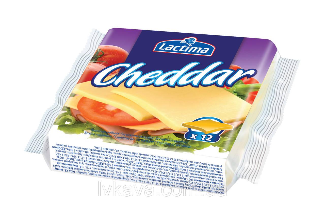 Сыр плавленный нарезанный Lactima Чеддер , 130 гр