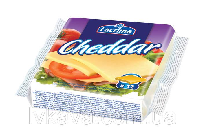 Сыр плавленный нарезанный Lactima Чеддер , 130 гр, фото 2
