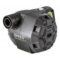 Электрический аккумуляторный насос Intex от сети 220 V/12V с насадками - для матраса, кровати, лодки, бассейна