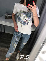 Стильные джинсы и футболка , размеры S.M.L.XI, фото 3