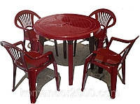 Набор пластиковой мебели для кафе