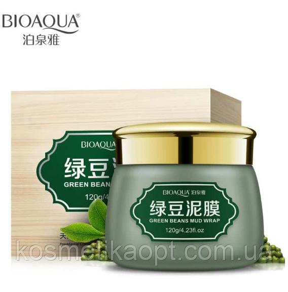 Очищающая грязевая маска с бобами ( Мунг)  Bioaqua Green beans Mud Wrap, 120 мл