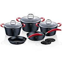 Набор посуды 10 предметов Stone Touch Line Black Berlinger Haus BH-1166N
