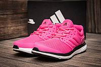 Кроссовки женские в стиле Adidas Galaxy в стиле Адидас Гелекси, текстиль, текстиль код DO-7059. Розовые