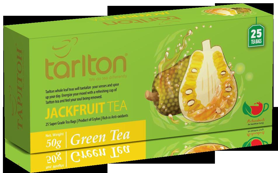Чай зелений пакетований Тарлтон Jackfruit Green Tea зі смаком тропічного фрукта Джекфрут 25 пак х 2 м