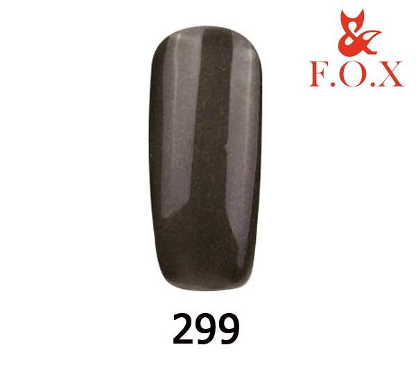 Гель-лак FOX Pigment № 299 (черный с микроблеском),6 мл