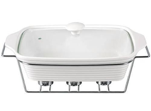 Мармит Kamille Food Warmer керамическая форма 3л 38см с подогревом